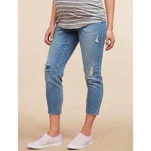 Motherhood Maternity | Skinny Leg Crop Jeans